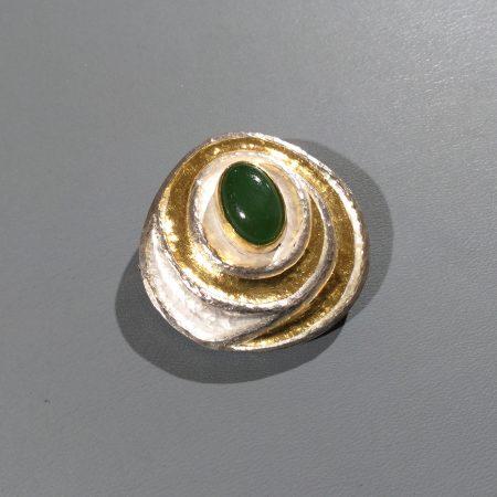 Jade Brosche-Anhänger